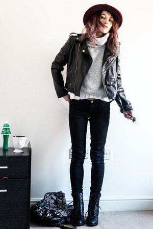 black choiescom jacket - roll neck Choies sweater