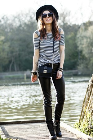 stripes NastyDress top - black StyleMoi pants