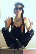 yeswalker boots - wwwbanggoodcom leggings - wwwxfemmexcom necklace