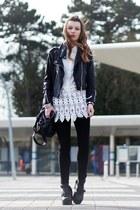 white white  crochet blouse