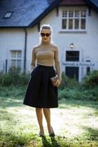 gray shoes - brown Zara bag - black River Island sunglasses