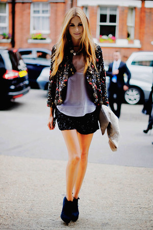 jacket - bag - shorts - heels