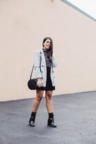 heather gray boyfriend Forever 21 blazer - black patnet ankle Forever 21 boots
