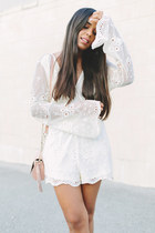 eggshell lace Tobi romper - light pink Zara bag