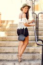 Black-zara-bag-white-la-hearts-top