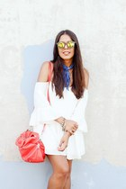 blue paisley Zara scarf - white Zara romper