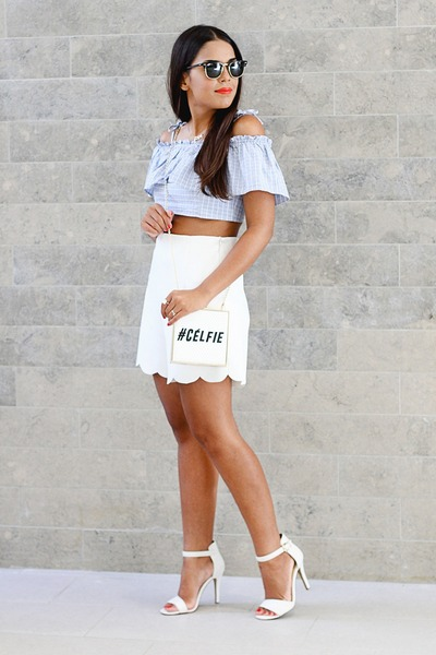 White-river-island-bag-white-front-row-shop-shorts-light-blue-asos-top