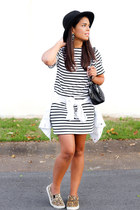 black striped Sheinside dress