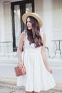 White-maggy-london-dress-brown-tassel-asos-sandals