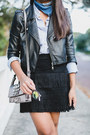 Black-leather-gypsy-warrior-jacket-light-blue-forever-21-shirt
