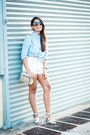 Sky-blue-striped-forever-21-shirt-white-high-waisted-forever-21-shorts