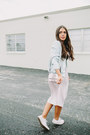 Light-blue-bomber-zara-jacket-light-pink-pleated-zara-skirt