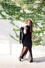 Black-zara-jacket-black-maxi-zara-skirt