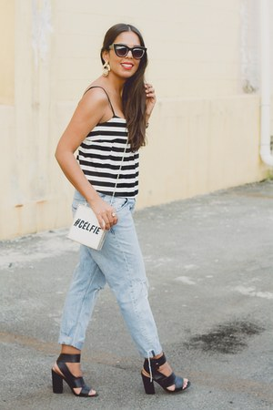 white River Island bag - light blue boyfriend Zara jeans