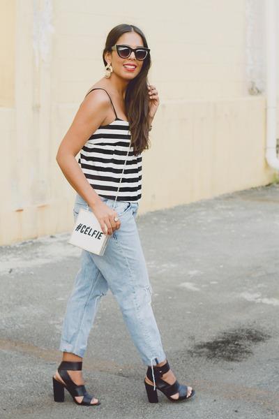 white River Island bag - light blue boyfriend Zara jeans