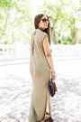 Olive-green-maxi-forever-21-dress-beige-strappy-forever-21-sandals