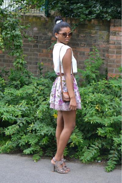 Marks & Spencer skirt - Zara top - Faith heels