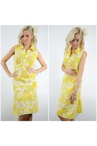 gold cotton Ahka Vintage dress