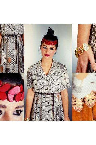 flora polyester Ahka Vintage dress