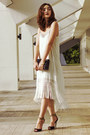 Black-ankle-strap-primadonna-shoes-ivory-fringed-tfnc-london-dress