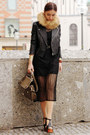 Black-transparent-matilda-clothing-dress