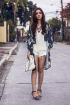 navy kimono oriental inlovewithfashion top