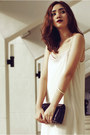 Black-ankle-strap-primadonna-shoes-ivory-fringed-tfnc-london-dress