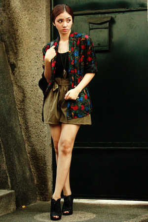 high-waisted random shorts - dress - Kasper blazer