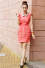 Coral-topshop-dress-bubble-gum-collar-bedazzle-accessories-accessories