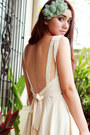 Ivory-backless-romwe-dress