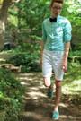 Aquamarine-sperry-shoes-aquamarine-express-shirt-white-asos-shorts
