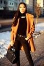 Black-miista-shoes-bronze-zara-coat-black-michael-kors-bag