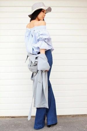 light blue Chicwish blouse