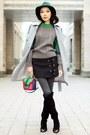 Green-chicwish-sweater-black-chicwish-skirt