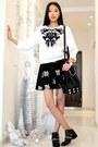 White-choies-sweatshirt-black-chicwish-skirt
