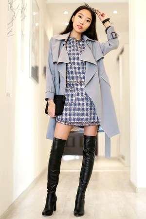 violet Chicwish dress - periwinkle Chicwish coat