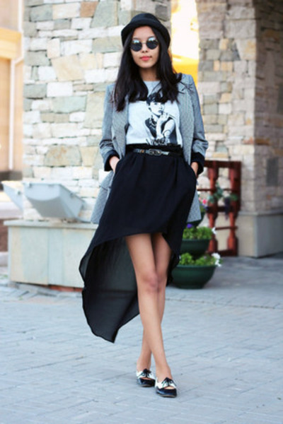black Zara skirt - black Spring shoes