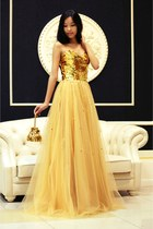 gold Msdressy dress