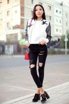 white zaful jacket
