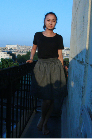 Muji t-shirt - Home-made skirt