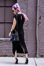 Black-forever-21-dress-navy-rebecca-minkoff-bag