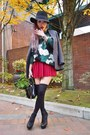 Black-free-people-hat-dark-green-camo-sheinsidecom-sweater