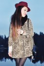 Red-chiffon-emoda-wedges-light-brown-leopard-h-m-coat