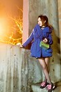 Navy-nowistyle-dress-blue-puffer-nowistyle-coat-gold-hologram-nasty-gal-bag
