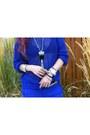 Blue-mesh-h-m-sweater-orange-justfab-bag-silver-platform-missguided-sandals
