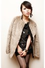 Heather-gray-fur-gap-coat-ruby-red-belvet-nasty-gal-boots-black-japan-tights