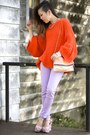 Periwinkle-skinny-urbanog-jeans-carrot-orange-oversized-zara-sweater