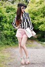 Black-newsboy-cap-from-japan-hat-white-striped-forever-21-shirt
