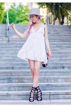 white style moi dress - heather gray Buffalo Exchange hat