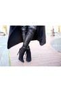 Black-ankle-zara-boots-black-boohoo-coat-black-beanie-target-hat